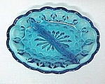Click here to enlarge image and see more about item 60359: Anchor Hocking Glass Fairfield Divided Relish Dish Blue