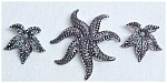 Click here to enlarge image and see more about item 60404: Marcasite Enamel Pin & Clip Earrings West Germany