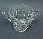 Click here to enlarge image and see more about item 60934: Cambridge Elegant Depression Glass Cascade Sugar Bowl