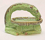 Click here to enlarge image and see more about item 61146: Majolica Camel Dish L&R Germany Salt Cellar Figurine