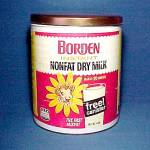 Click here to enlarge image and see more about item 62001: Elsie The Cow Borden Instant Nonfat Dry Milk Tin Can