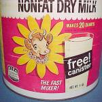 Click to view larger image of Elsie The Cow Borden Instant Nonfat Dry Milk Tin Can (Image2)