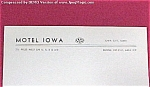 Motel Iowa City IA Vintage Stationery Souvenir AAA