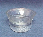 Click here to enlarge image and see more about item 63278: Military Style Hat Candy Container Pla-Toy Co Glass US