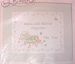 Click here to enlarge image and see more about item 639: Prec Moments Baby's Arrival Cross Stitch Kit Stitchery