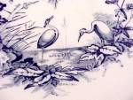 Click to view larger image of Blue Transferware Stork Compote H&C Ironstone Porcelain (Image5)