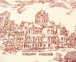 Click to view larger image of Vernon Kilns Collectors Plate Mason City Iowa Vintage (Image4)