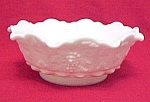 Westmoreland Paneled Grape Milk Glass 9 in Lipped Bowl