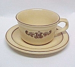 Click here to enlarge image and see more about item 65675: Pfaltzgraff China Village Brown Cup and Saucer