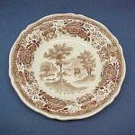 Click here to enlarge image and see more about item 65925: Villeroy & Boch Brown Burgenland Flat Soup Bowl