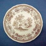 Click here to enlarge image and see more about item 65927: Villeroy & Boch Brown Burgenland Bread Butter 6in Plate