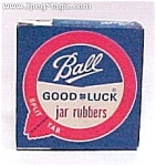 Click here to enlarge image and see more about item 66368: Ball Good Luck Canning Jar Lid Rubbers 12 Nib New