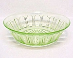Click here to enlarge image and see more about item 67074: Colonial Green Lrg Berry Bowl Hocking Depression Glass