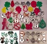 Click here to enlarge image and see more about item 67099: Vintage Lot of 52 Cookie Cutters Aluminum Steel Plastic Wood