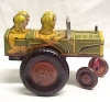 Click to view larger image of Louis Marx Jumpin Jeep Tin Litho Wind-up Toy Vintage (Image6)
