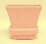 Click here to enlarge image and see more about item 67988: McCoy American Art Pottery Pink Speckled Deco Box Vase