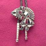 Click here to enlarge image and see more about item 68277: Vintage Zuni Native American Indian Western Bolo Tie