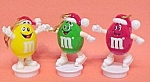 Click here to enlarge image and see more about item 69694: M&M Almonds Candy Character Christmas Tree Ornaments