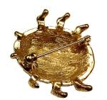 Click to view larger image of Jessica Lauren Ladybug Pin Austrian Crystal Brooch Bug (Image4)