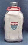 Click here to enlarge image and see more about item 69928: All Star Dairies 1/2 Gallon Milk Bottle Jug near Mint