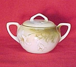 Click here to enlarge image and see more about item 70072: RS Germany Sugar Bowl White Lily Lilies R S Prussia