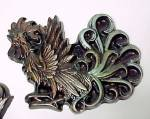 Click to view larger image of Chalkware Fancy Rooster & Hen Wall Plaques Pair (Image2)