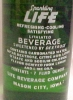 Click to view larger image of Sparkling  Life Soda Full Green Bottle Mason City Iowa (Image2)