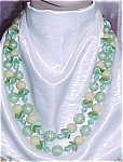 Click here to enlarge image and see more about item 70650: W Germany Vintage Plastic 2 strand beaded Necklace