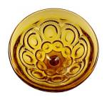 Click to view larger image of Amber Moon and Stars 6 oz Sherbet LE L E Smith Heritage Glass Pattern (Image3)