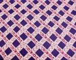 Click here to enlarge image and see more about item 71929: Feedsack Vintage Cotton Quilt Fabric Navy Wine Floral