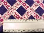 Click to view larger image of Feedsack Vintage Cotton Quilt Fabric Navy Wine Floral Flour Sack (Image2)