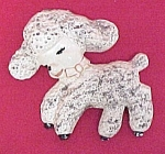 Click here to enlarge image and see more about item 72116: Vintage Chalkware Lamb Chalk Wall Hanging 1950s Decor