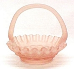 Click here to enlarge image and see more about item 72481: Westmoreland Glass Paneled Grape PINK MIST Satin Basket