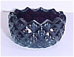 Click here to enlarge image and see more about item 72747: Sawtooth Open Salt Dip Cellar Black Amethyst Glass