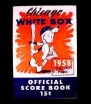 Click here to enlarge image and see more about item 72822: Chicago White Sox 1958 Program Scorecard New York Yankees
