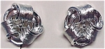 Click here to enlarge image and see more about item 72872: Lisner Silvertone Screw Earrings Mint on Card