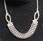 Click to view larger image of Rhinestone Choker Bib Necklace Vintage D'Ver's Jewelry (Image1)