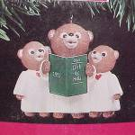 Click to view larger image of Hallmark 1991 Glee Club Bears Merry Miniatures Christmas Ornament (Image2)