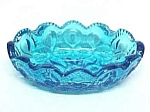 Click here to enlarge image and see more about item 74042: Moon & Stars Blue Glass 4.5 in Oval Individual Ashtray