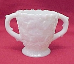 Click here to enlarge image and see more about item 74316: Westmoreland Milk Glass Maple Leaf Sugar Bowl