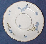 Click here to enlarge image and see more about item 74465: Haviland China Montmery Forget Me Nots Saucer