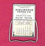 Burlington Paper Co. Iowa Calendar Souvenir Advertising