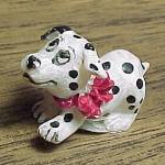 Click here to enlarge image and see more about item 75204: Miniature Mini Dalmation Puppy Dog Figurine for Shadow Box Figure