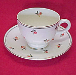 Homer Laughlin China Cardinal Art Deco Cup & Saucer