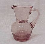 Click here to enlarge image and see more about item 75395: Light Amethyst Crackle Glass 3.5 in Jug Pitcher Creamer
