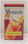 Click here to enlarge image and see more about item 75602: Monarch Orange Pekoe Black Tea Tin 8 oz Advertising