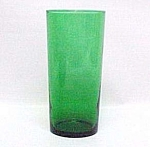 Click here to enlarge image and see more about item 75610: Anchor Hocking Forest Green Iced Tea Tumbler Fire King