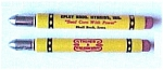 Click here to enlarge image and see more about item 76043: Epley Bros. Hybrids Bullet Pencil Shell Rock Iowa IA