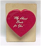 Click here to enlarge image and see more about item 76125: Vintage Wind Up Heart Throb Valentine Card 1958 Toy