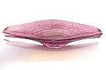 Cranberry Aventurine Italian Art Glass Oval  Bowl Dish